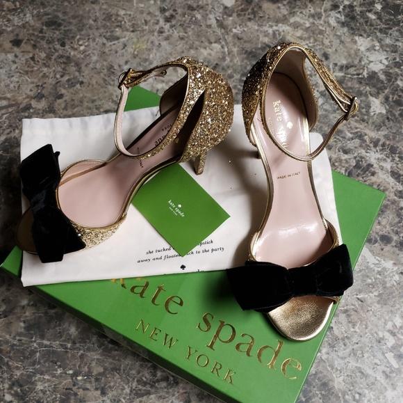 a5658823a30d kate spade Shoes | Irwin Gold Glitter Pumps | Poshmark